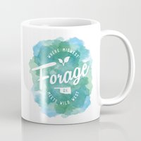 wes anderson Mugs featuring Forage, OK by Laura Anderson by Elliot Matson