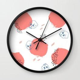 Abstract Skulls Wall Clock