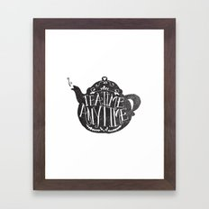 TEA TIME. ANY TIME. Framed Art Print