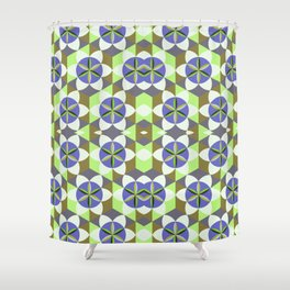 FLOWER OF LIFE GEOMETRIC PATTERN Shower Curtain