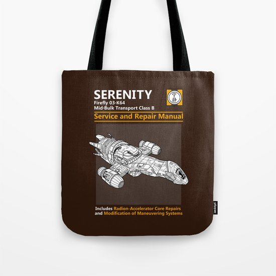 Serenity Service and Repair Manual Tote Bag