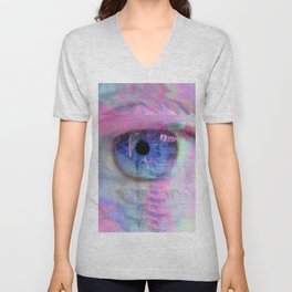 Digital Evil Eye Unisex V-Neck