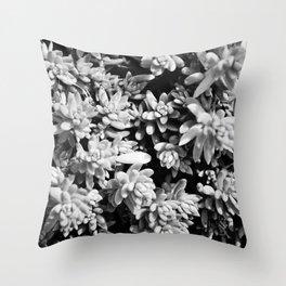 Succulent circle Throw Pillow