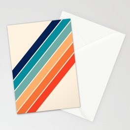 Karanda - 70s Style Classic Retro Stripes Stationery Cards