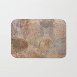 Decorative Vintage Circles Texture Bath Mat
