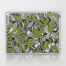 woodland fox party green Laptop & iPad Skin