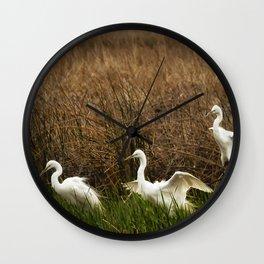 Egret Landing Wall Clock