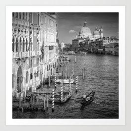 VENICE Canal Grande & Santa Maria della Salute | Monochrome Art Print