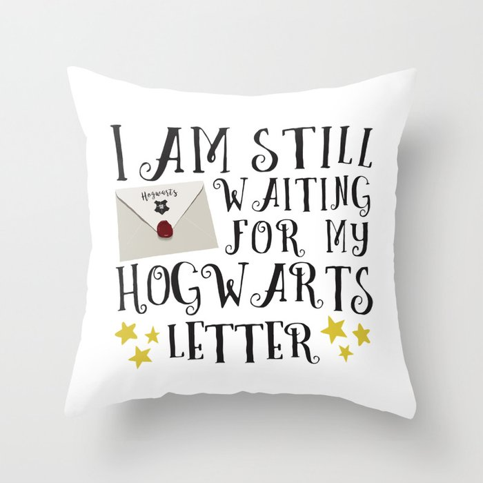 Waiting For My Letter Throw Pillow