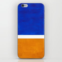 Phthalo Blue Yellow Ochre Mid Century Modern Abstract Minimalist Rothko Color Field Squares iPhone Skin
