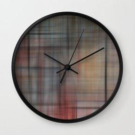 Abstract Multicolored Tartan Wall Clock