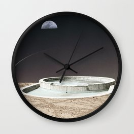 Pool in Space Wall Clock