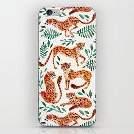 Cheetah Collection – Orange & Green Palette iPhone Skin