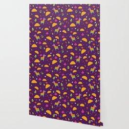 Taco Fiesta in Purple Wallpaper
