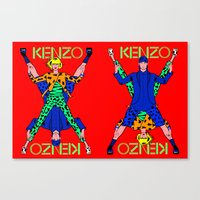 kenzo Canvas Prints featuring Kenzo Pop Art by Alli Vanes