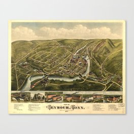 Aerial View of Seymour, Connecticut (1879) Canvas Print
