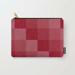 Four Shades of Red Square Carry-All Pouch