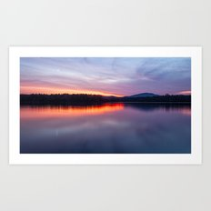 evening on raquette lake Art Print