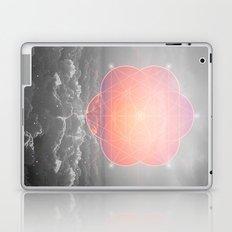 The Sun Is But A Morning Star (Mono Geometric Sunrise) Laptop & iPad Skin