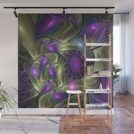 Magical Lights, Fractal Art Colorful Abstract Wall Mural