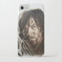 daryl iPhone & iPod Cases featuring Daryl Dixon by David Nash