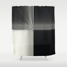 Modern Black White Block Zoom Design Shower Curtain