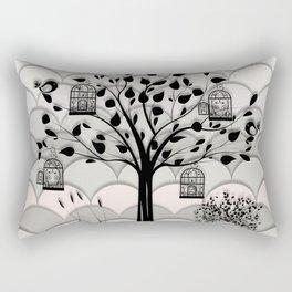 Paper landscape B&W Rectangular Pillow