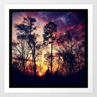 tye dye Art Prints featuring Tye-Dye-Sky by Chriss Chapman