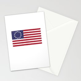 American Patriot Since 1776 USA Flag Veterans Day Stationery Cards