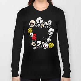 Skullz & Lulz Pattern Long Sleeve T-shirt
