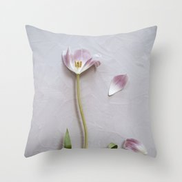 Tulips on pink Throw Pillow