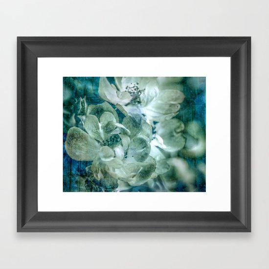 Dreaming of roses Framed Art Print