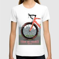 brompton T-shirts featuring Tour De France Bike by Wyatt Design