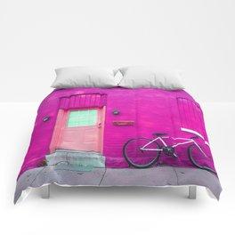 fuchsia house Comforters