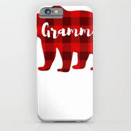 Gramma Bear Clothing Women Gift Grandparent Family Matching T-Shirt iPhone Case