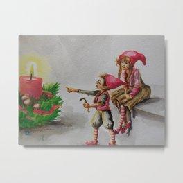 Julenisser Metal Print