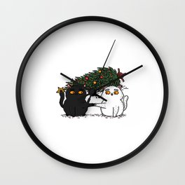 Christmas CATastrophe Wall Clock