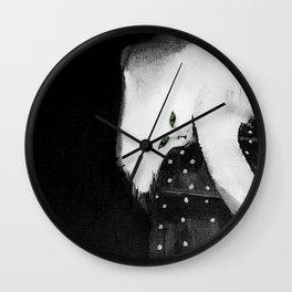 Cats_white cat Wall Clock