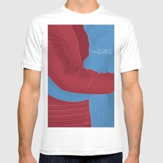 Let's Cuddle MEDIUM Mens Fitted Tee White