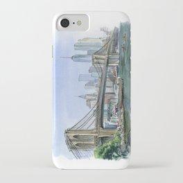 Brooklyn Bridge in August iPhone Case