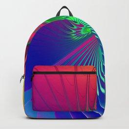 Outburst Spiral Fractal neon colored Backpack