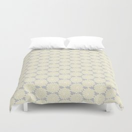 White cotton flower Duvet Cover