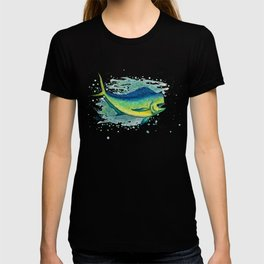 """Mahi Mahi Splash"" by Amber Marine ~ Watercolor & Ink Painting, (Copyright 2016) T-shirt"