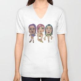 Front Row Fashionistas Unisex V-Neck