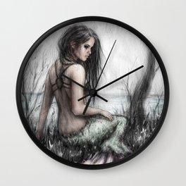 Mermaid's Rest Wall Clock
