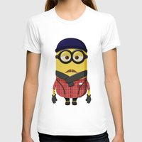minion T-shirts featuring Hipster Minion by Henrik Norberg