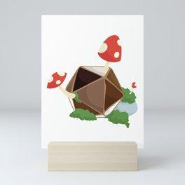 Mushroom d20 Mini Art Print