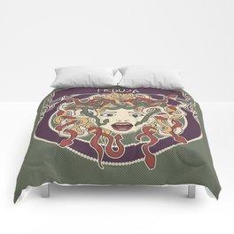 foolish medusa (green) Comforters