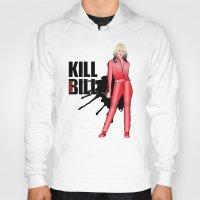 kill bill Hoodies featuring Kill Vampire Bill (Red Version) by AriesNamarie