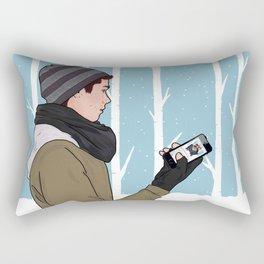 sledding. wish you were here.  Rectangular Pillow